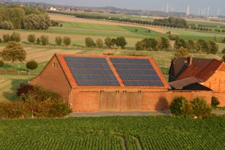 Photovoltaik Peine - Hier aufgenommen von dem Windkraftwerk in Bierbergen