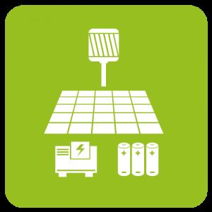Stromautark mit Photovoltaik-Anlage und Windkraftwerk